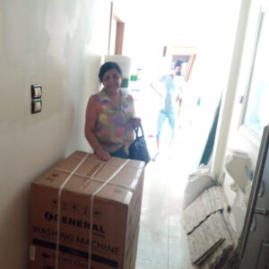Household goods delivered to those affected by the disaster