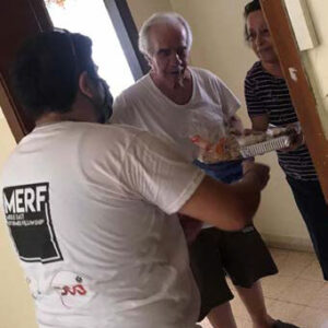 Delivering aid door to door