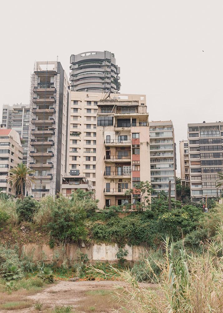 Damaged Tower Blocks Beirut